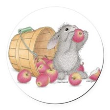happyhoppers Round Car Magnet