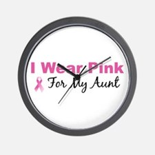 I Wear Pink For My Aunt Wall Clock