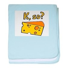 Queso? baby blanket