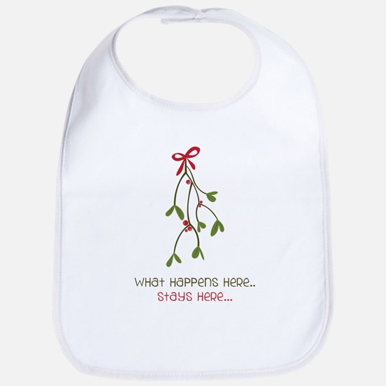 What Happens Under The Mistletoe... Bib