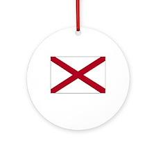 Alabama Flag Picture Ornament (Round)