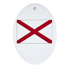 Alabama Flag Picture Oval Ornament