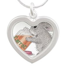 Carrot Juice - Silver Heart Necklace
