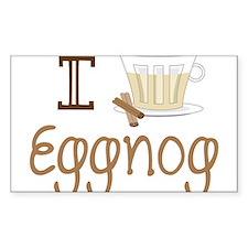 I Love Eggnog Decal