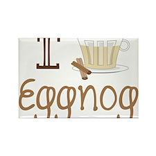I Love Eggnog Rectangle Magnet