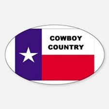 Cowboy Country Oval Decal