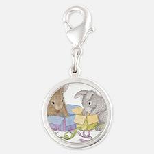 Hoppy Birthday - Silver Round Charm