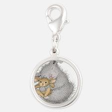 Love Bunny - Silver Round Charm