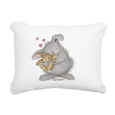 Love Bunny - Rectangular Canvas Pillow