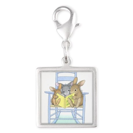 Tall Tales Silver Square Charm