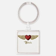 Belinda the Angel Square Keychain