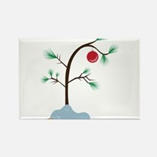 Small Tree Rectangle Magnet