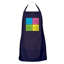 Kitty Squares Apron (dark)