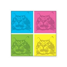 Kitty Squares Sticker