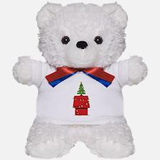 Holiday Dog House Teddy Bear