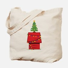 Holiday Dog House Tote Bag