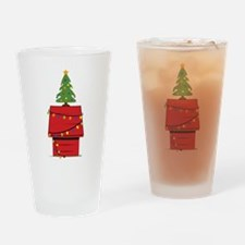 Holiday Dog House Drinking Glass