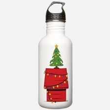 Holiday Dog House Water Bottle