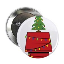 """Holiday Dog House 2.25"""" Button"""