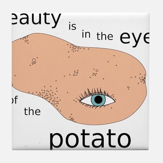 Eye of the Potato Tile Coaster