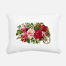 Flower Basket C Rectangular Canvas Pillow