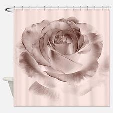 Vintage Brown Rose Shower Curtain