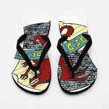 DnD Academy Crest Flip Flops