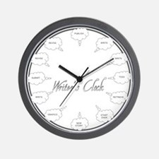 Cute Writers Wall Clock