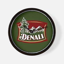 Denali Mountain Scene Wall Clock