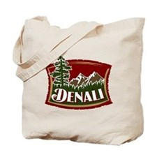 Denali Mountain Scene Tote Bag
