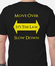 Move Over Safety Men's Fitted T-Shirt (dark)