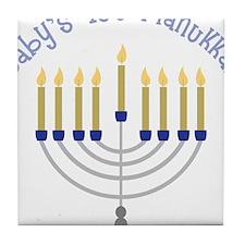 Baby's 1st Hanukkah Tile Coaster