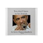 Funny Purim Obama Throw Blanket