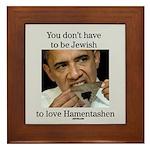 Funny Purim Obama Framed Tile