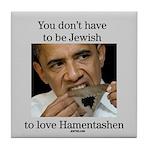 Funny Purim Obama Tile Coaster