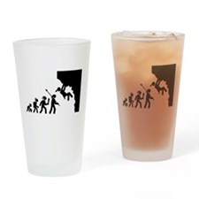 Rock Climbing Drinking Glass