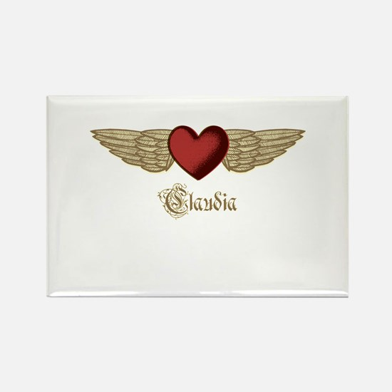 Claudia the Angel Rectangle Magnet