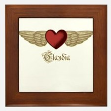 Claudia the Angel Framed Tile