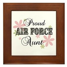 Air Force Aunt [fl camo] Framed Tile