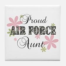 Air Force Aunt [fl camo] Tile Coaster