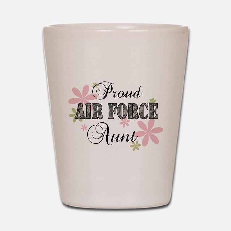 Air Force Aunt [fl camo] Shot Glass