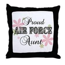 Air Force Aunt [fl camo] Throw Pillow