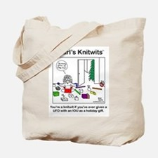 Pearl and UFO's with IOU Tote Bag