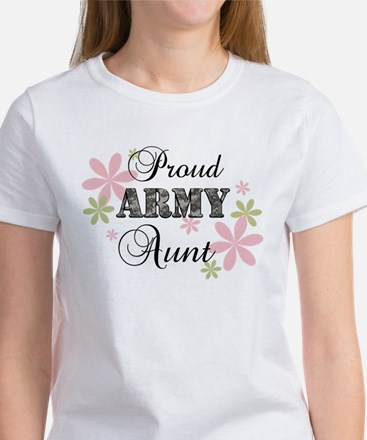 Army Aunt [fl camo] Women's T-Shirt