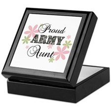 Army Aunt [fl camo] Keepsake Box