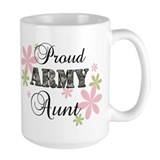 Army aunt Large Mugs (15 oz)