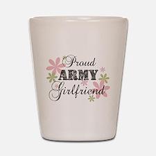 Army Girlfriend [fl camo] Shot Glass