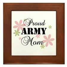 Army Mom [fl camo] Framed Tile