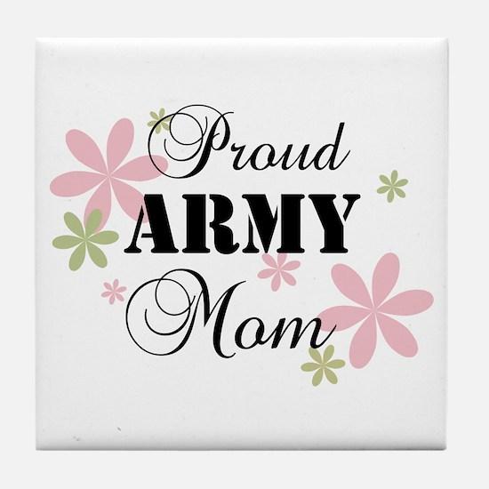 Army Mom [fl] Tile Coaster