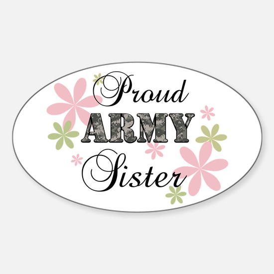 Army Sister [fl camo] Sticker (Oval)